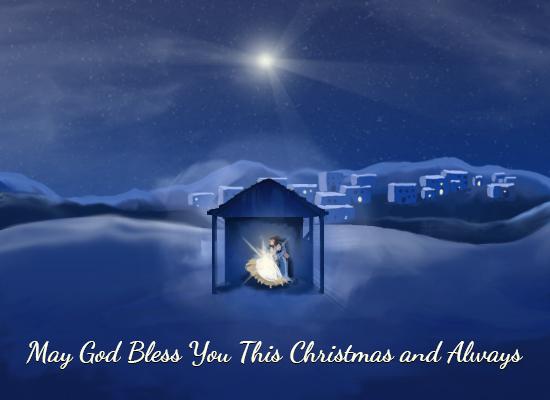 myfuncards  nativity  send free holidays ecards