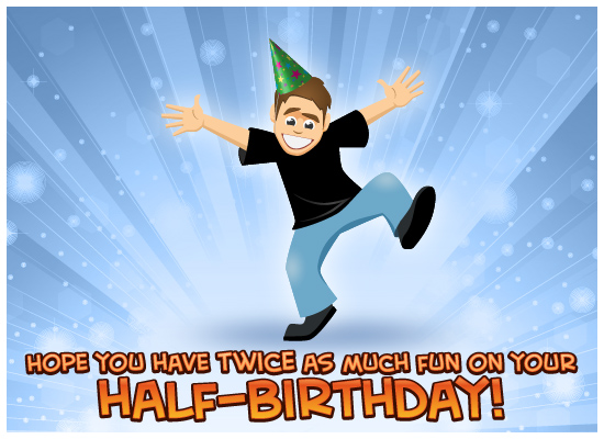 MyFunCards Twice As Much Fun Boy Send Free Birthday eCards Half
