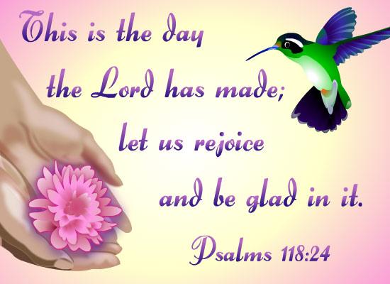 Myfuncards Psalms 118 24 Send Free Care Amp Concern