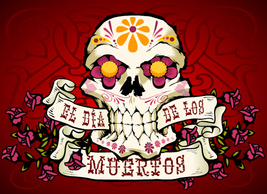 Myfuncards el dia de los muertos send free holidays ecards holidays other el dia de los muertos celebrate the memory of loved ones with this day of the dead m4hsunfo