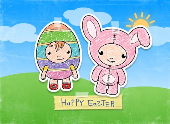 Myfuncards easter kids send free holidays ecards easter greetings holidays easter easter kids m4hsunfo