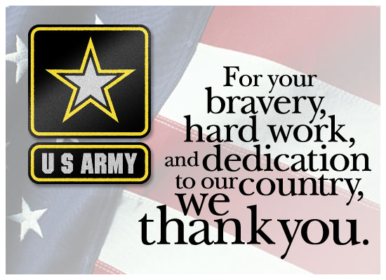 Thanks - Army