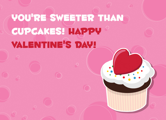 Collection Sweet Valentines Day Pictures Hausse – Cupcake Valentine Card