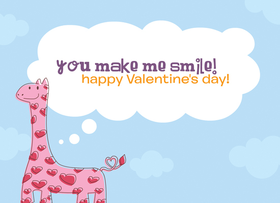 Myfuncards sweet giraffe send free holidays ecards valentines sweet giraffe m4hsunfo