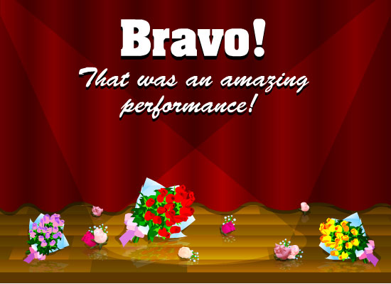 MyFunCards | Great Performance - Send Free Special Occasions eCards