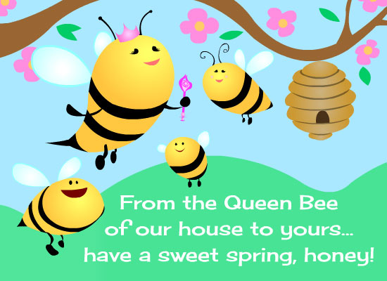 Myfuncards happy spring honey send free special occasions happy spring honey m4hsunfo